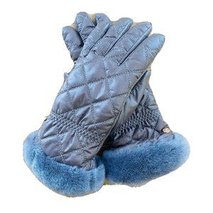 UGG Australia Womens Gloves Quilted Grey S/M